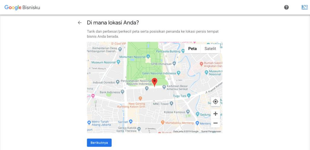pin lokasi bisnis