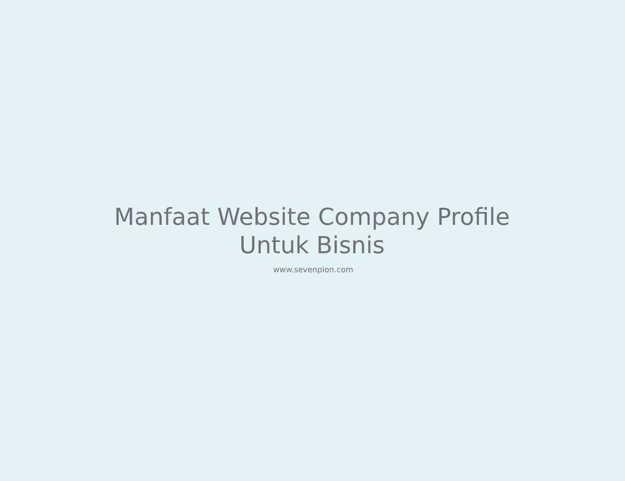 manfaat website company profile