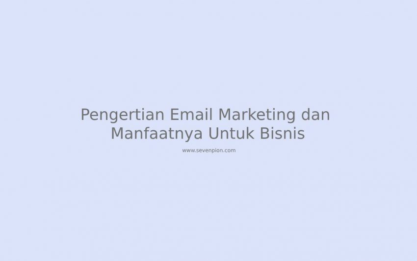 pengertian email marketing