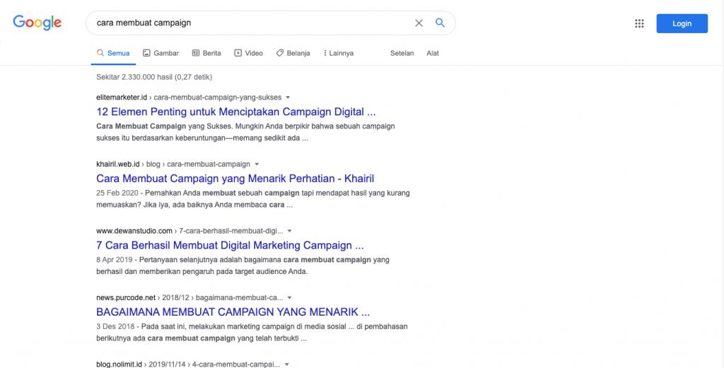 mendapat ranking pertama google